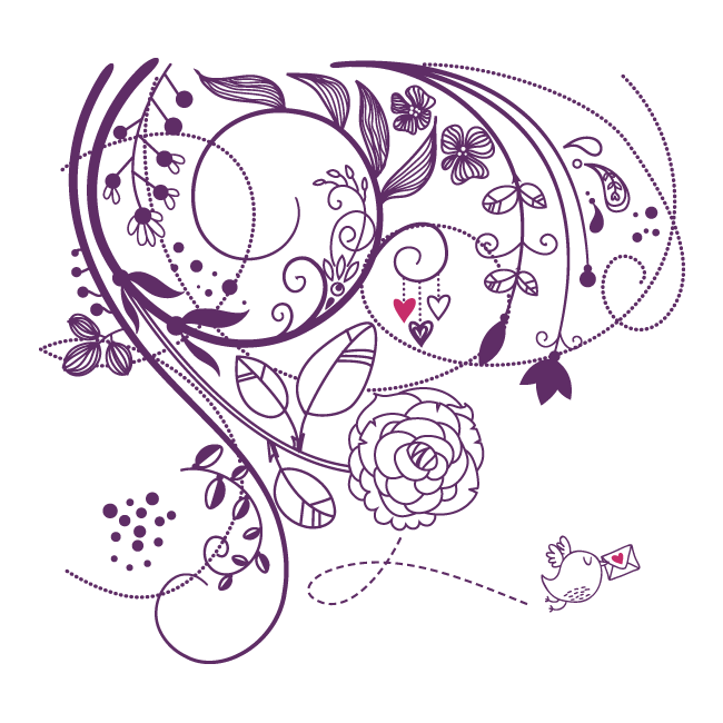 Vinilos pared flores de amor - Vinilos de amor ...