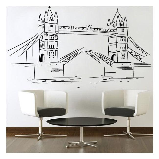 Vinilos Decorativos Stickers London Tower Bridge
