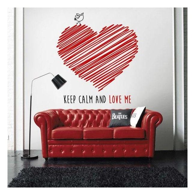 Vinilo Decorativo Keep Calm And Love Me