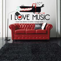 Vinilos Decorativos I Love Music