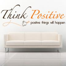 Vinilo Decorativo Frase Inglés Think Positive