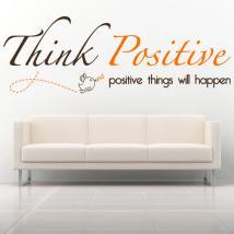 Vinilo Decorativo Frase Inglés Think Positive