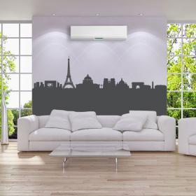 Vinilo Decorativo Skyline Panorámica París