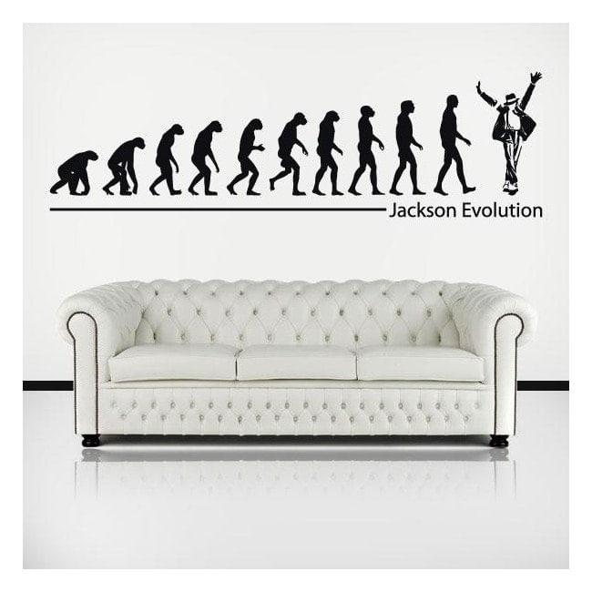 Vinilos Decorativos Michael Jackson Evolution