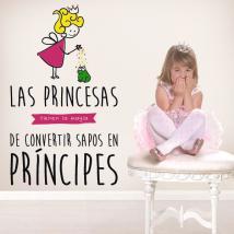 Vinilo Decorativo Infantil La Magia De Las Princesas
