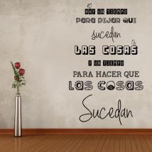 Vinilo Decorativo Frase Hay Un Tiempo