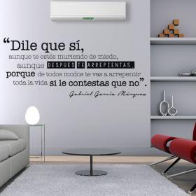 Vinilo Decorativo Frase Gabriel García Márquez