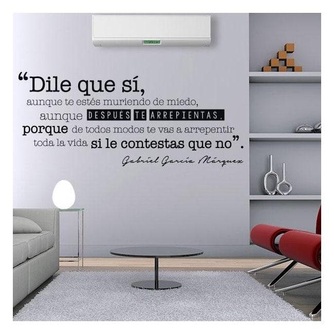 Vinilo decorativo frase gabriel garc a m rquez - Vinilos frases para dormitorios ...
