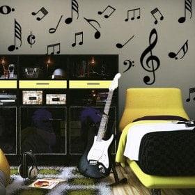 Vinilo Decorativo Kit Notas Musicales