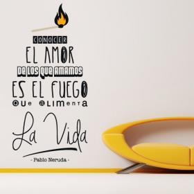 Vinilo Decorativo Frase Pablo Neruda