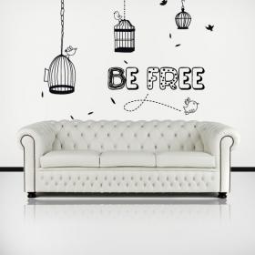 Vinilo Decorativo Be Free