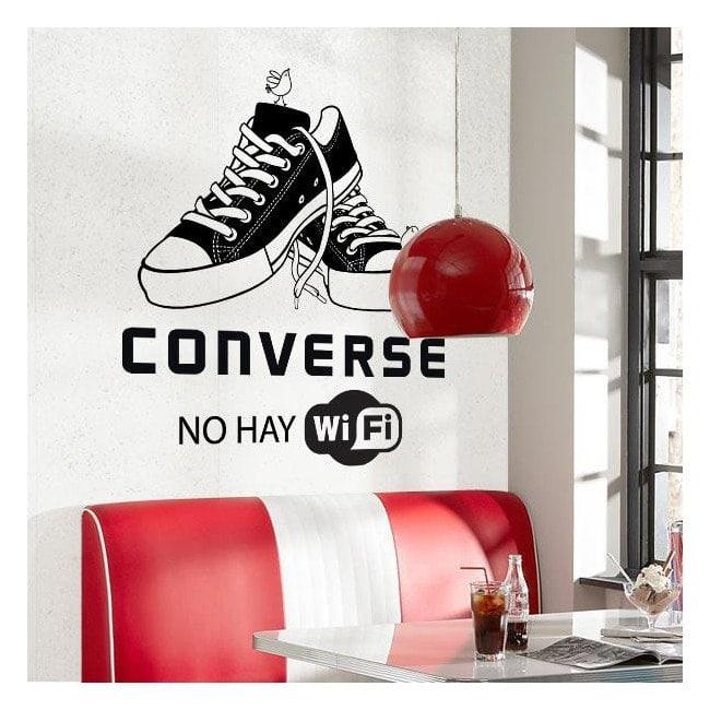 Vinilo Decorativo Converse No Hay Wifi