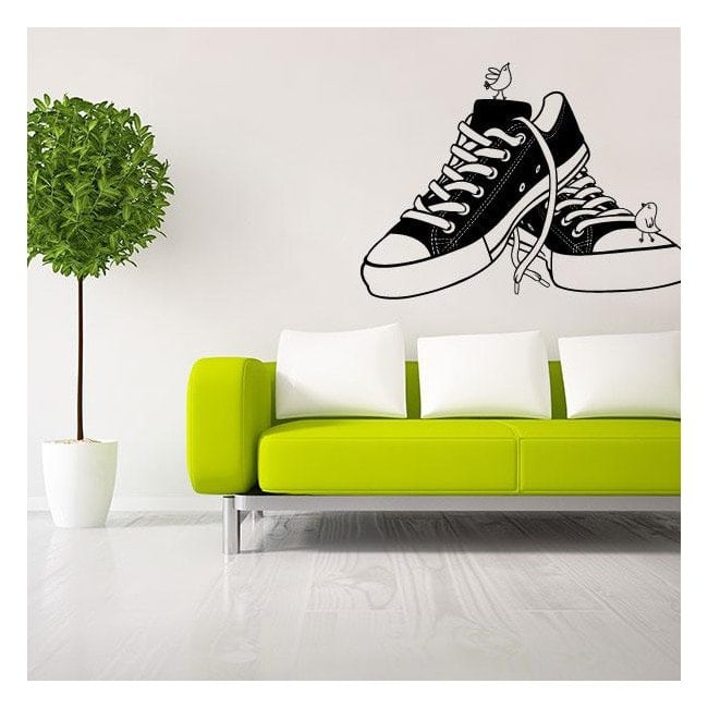 Vinilo Decorativo Retro Shoes
