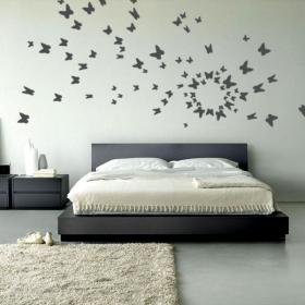 Vinilo decorativo mariposas al vuelo vinilos decorativos for Adhesivos decorativos para dormitorios