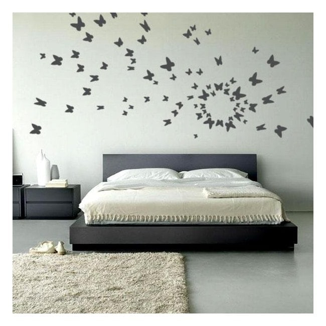 Vinilo decorativo mariposas al vuelo for Vinilos mariposas