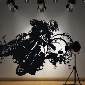 Vinilo Decorativo Adhesivo Motocross