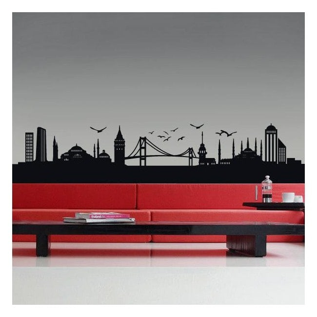 Vinilo Decorativo Skyline Estambul