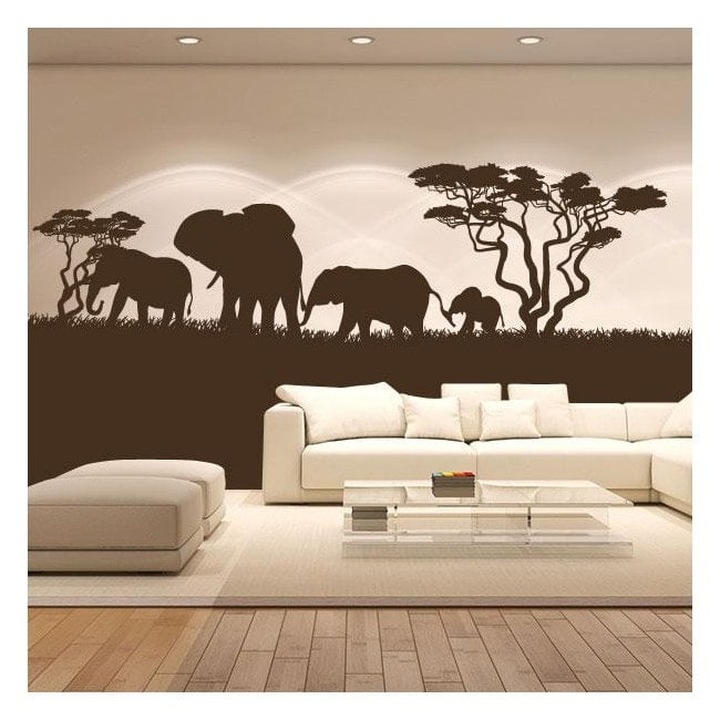 Vinilo decorativo elefantes frica for Vinilos grandes baratos
