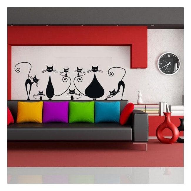 Vinilos decorativos gatos en familia - Vinilos decorativos gatos ...