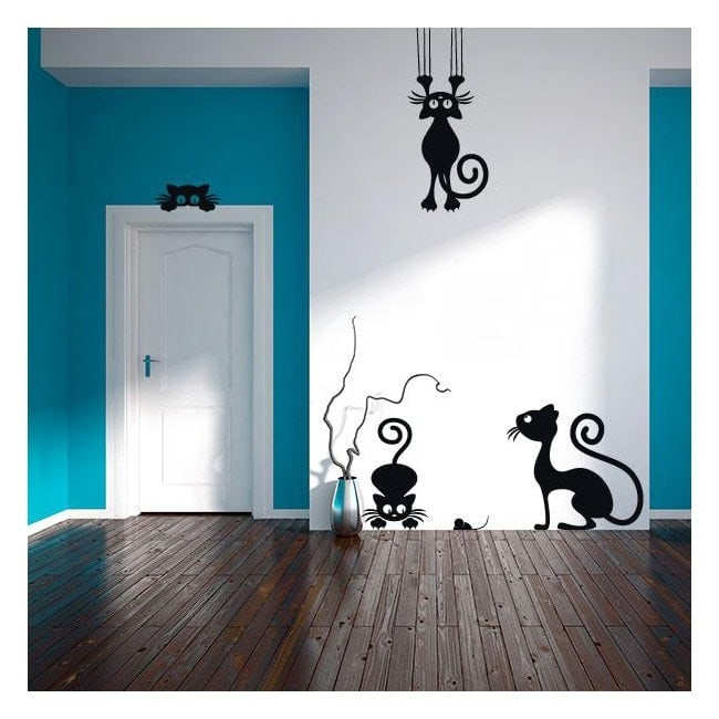 Vinilos decorativos gatos - Ver vinilos decorativos economicos ...