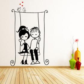 Decorar paredes silueta de mujer for Vinilos decorativos infantiles musicales