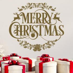 Vinilos Navidad Texto Merry Christmas