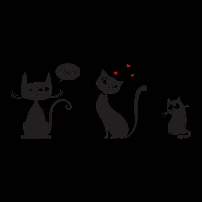 Vinilos decorativos gatos meow - Vinilos decorativos gatos ...