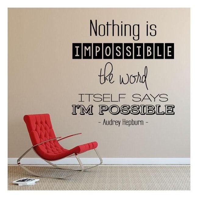 Vinilos Decorativos Frases Audrey Hepburn