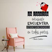 Vinilos Decorativos Frases Paulo Coelho Un Corazón