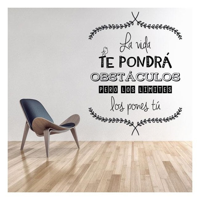 Decorar paredes frases de la vida for Frases en vinilo para pared