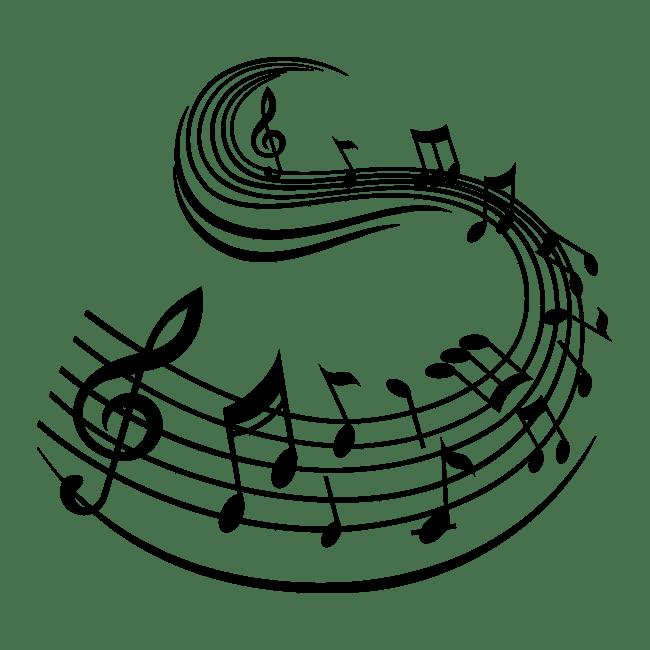 Vinilos Pentagrama Y Notas Musicales