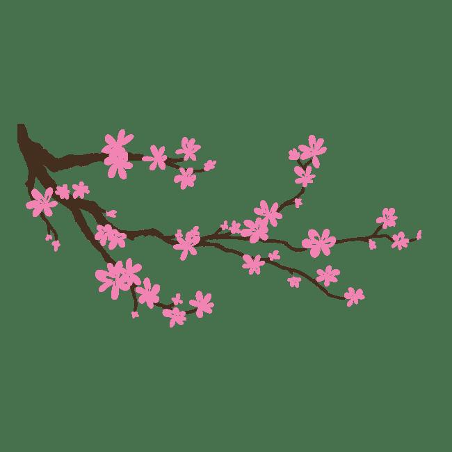 Vinilos rama rbol con flores for Arbol vinilo