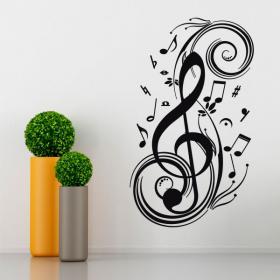 Vinilos Notas Musicales