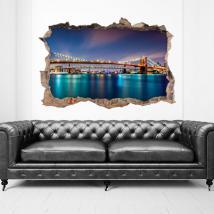 Vinilos 3D Puente De Brooklyn