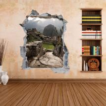 Vinilos 3D Pared Machu Picchu