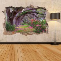 Vinilos 3D Árboles Naturaleza