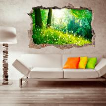 Vinilos 3D Pared Rota Naturaleza