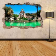 Vinilos 3D Fuente Parque De La Ciudadela