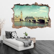 Vinilos 3D Big Ben Londres