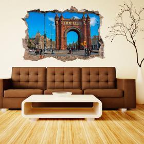 Vinilo 3D Barcelona Arco Del Triunfo
