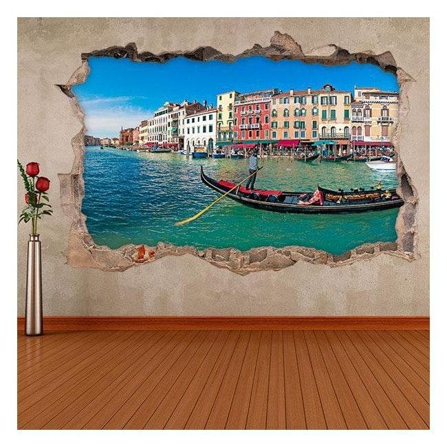 Vinilos 3D Góndola Venecia
