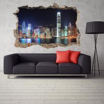 Vinilo 3D Hong Kong Ciudad