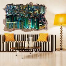 Vinilos 3D Edificios Hong Kong