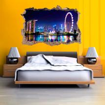 Vinilo 3D Ciudad Singapore