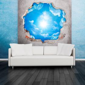 Vinilos 3D Cielo Nubes y Sol