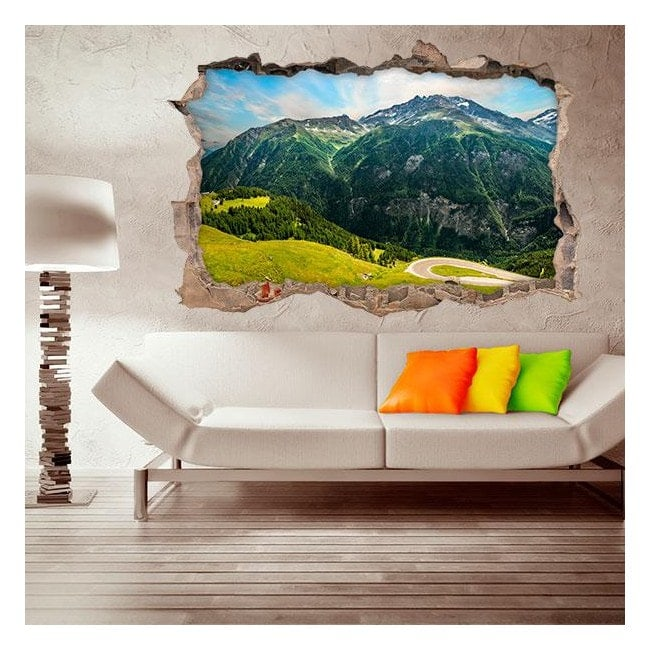 Vinilos 3D Montañas Paredes