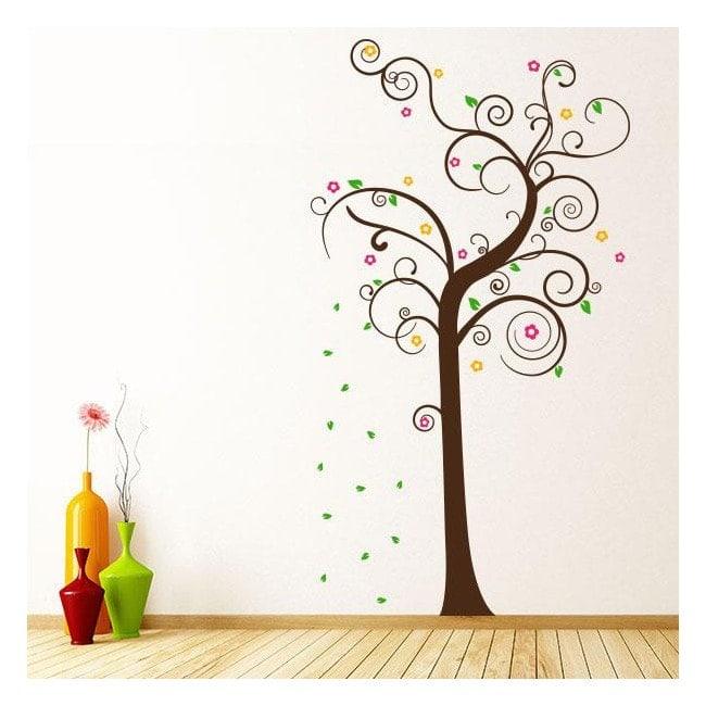 Vinilos decorativos rbol multicolor - Vinilos decorativos personalizados ...