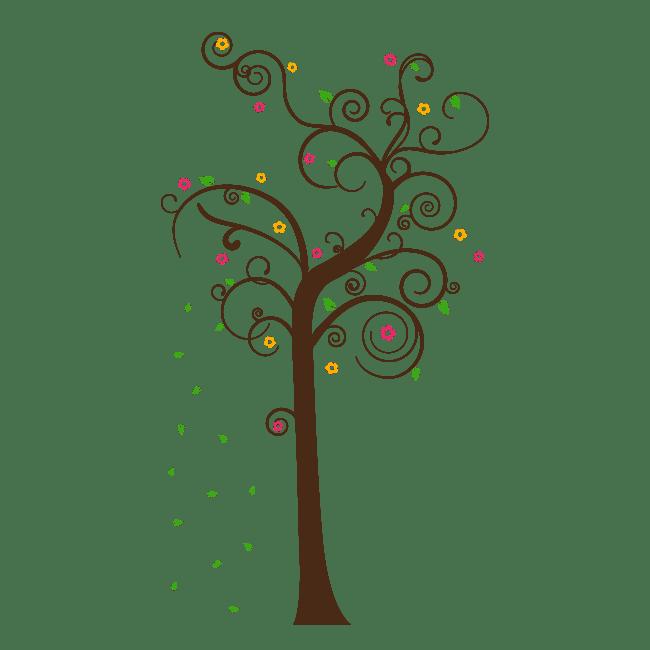 Vinilos decorativos rbol multicolor - Vinilos decorativos arboles ...