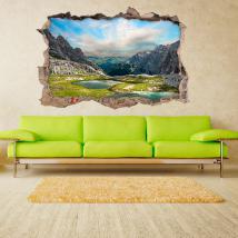 Vinilo 3D Lago En Las Montañas