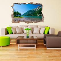 Vinilo 3D Lago Y Montañas